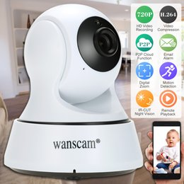 Wholesale Wireless Wifi Cctv Ip Camera - Wanscam HD 720P Wireless WiFi Pan Tilt Network IP Cloud Camera Infrared Night Motion Detection for CCTV Surveillance Security Cameras S1099