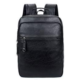 Wholesale leather fashion backpack vintage - 2017 New european fashion brand name leather backpack men genuine vintage style big capacity designer backpacks