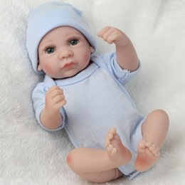 Wholesale Real Doll Hand - NPKDOLL 28cm Reborn Baby Doll Silicone Body Hand-painted hair Newborn Doll Real Touch Toy Handmade Soft Body for Children