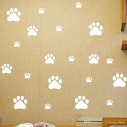 Wholesale Vinyl Supplies - Wall Stickers Removable Cute Footprint Mural Painting Supplies Art PVC Vinyl Eco Friendly Home Decor Decal 2 8tm J R
