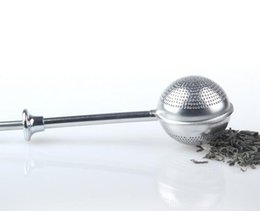 Wholesale Cast Iron Gifts - New Stainless Steel Locking Spice Tea Ball Strainer Mesh Infuser tea strainer Filter infusor