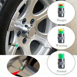Wholesale Opel Accessories - Mini 2.4Bar Car Tire Tyre Pressure caps TPMS Tools Warning Monitor Valve Indicator 3 Color Alert Diagnostic Tools Accessories