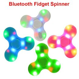 Wholesale Mini Speaker Fast Shipping - Hand Spinner Bluetooth Speaker LED Spinner Portable Bluetooth Speaker EDC For Autism Kids Adult Fidget Toy fast shipping