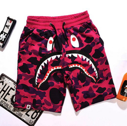 Wholesale Cotton Panties Xl - New Style Outdoor Hip-hop Short Pants Men's Shark Head Camouflage Youth Casual Shorts Panties Pants in the pants