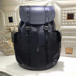 Wholesale Women Back Pack - 2017 Best Luxury Backpack Travel Leather Christopher Men Women Backpacks Authentic Quality 35x12x45 cm Back Bags School Outdoor Sports Packs