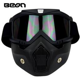 Wholesale Ski Helmet Glasses - Wholesale- Anti-fog Snowboard Ski Eyewear Skiing Snowboarding Motorcycle Motocross Racing Goggles Helmet Face Mask Glasses For Men Women