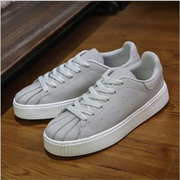Wholesale Heals Shoes - Trendy Shell Head Low Heal College Style Leisure Shoes Spring New Arrival Korean Hot Fashion Plate Shoes for Young Men