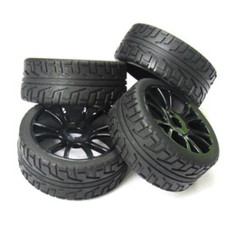 Wholesale Rc Cars Off Road Tires - 4pcs 17mm Hub Wheel Rim & Tires Tyre for 1 8 Off-Road RC Car Buggy HSP 180043