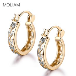 Wholesale quality jewellery - Wholesale- MOLIAM Small Earrings 2017 Fashion Classic Hollow Out Hoop Earring For Women High Quality Brinco Earings Ladies Jewellery MLE400