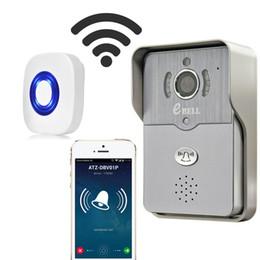 wifi ip caméra en gros Promotion En gros-EBELL Smart Wireless IP Sonnette Sans Fil avec Caméra 720P HD Vidéo Sonnette Night Version IR Détecteur De Mouvement Alarme pour IOS Android