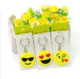 Venda quente 2017 QQ Emoji Chaveiro Pequeno Chaveiro Emoção Amarelo QQ Expressão Stuffed PVC Boneca de Brinquedo 6 projeto emoji pvc chaveiro frete grátis de