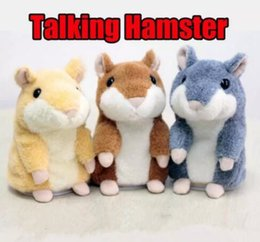Wholesale Recording Stuff - Talking Hamster Plush Toys Cute Talking Sound Record Mouse Kids Hamster Stuffed Animals Anime Toys Baby Birthday Christmas Toy Gifts J472