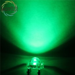 Wholesale Leds Flux For Cars - Wholesale- High Quality 20 pcs LED 5MM Piranha Green Super Flux Leds 4 pin Dome Wide Angle Super Bright Light Lamp For Car Light HOT SALE