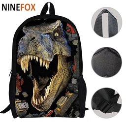 Wholesale Backbag Child - Special design Large 3D Dinosaur printing School Backpacks for Children Men Tourism Bag Women Backbag Fashion Animal Backpack