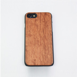 Wholesale Mobile Cover Wood - Genuine Wood phone case for iphone7 Half a pack Wooden pattern back cover for mobile phone