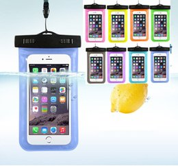Wholesale Cell Phone Touchscreen - Transparent Waterproof Underwater Pouch Dry Bag Case Cover For iPhone 7 Plus Cell Phone Touchscreen Mobile Phone with opp package