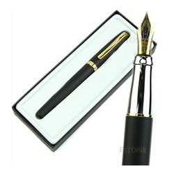 Wholesale Duke Fountain Pens - Wholesale- NEW Black Fountain Pen Duke 209 Matte 22KGP M Nib Set Nice Gift