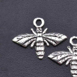 Wholesale Dragonfly Butterfly Jewelry - DIY jewelry accessories antique silver bee bracelet charms jewelry necklace dragonfly  butterfly pendants QMA2A3C 17x13mm 100pcs lot