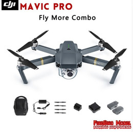 Wholesale Rc Control Systems - 2016 Newest DJI Mavic Pro Fly more Combo Folding FPV Drone With 4K HD Camera, OcuSync Live View GPS GLONASS System RC Quadcopter