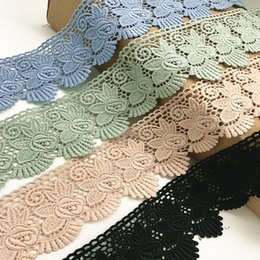 Wholesale Bridal Clothing - 6CM Width Europe Rose pattern Inelastic Embroidery Embroidery Trims,Curtain Tablecloth Slipcover Bridal DIY Clothing Accessories.