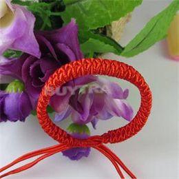 Wholesale String Wrap Bracelet - Wholesale- 1Pc Women Men Jewelry Handmade Waving String Bracelet Red Rope Chain&Link Bracelet Wrap Surf Bracelet Wristband