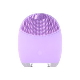 Wholesale Can Safes - 2017 New Electric facial cleansing brush Vibration Recharging silicone face scrubber washing safer and cleaner Can be used in the shower