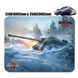 Wholesale popular kids games - Very popular game of tank world rubber custom mouse pad, decorate your home and office of computer desk, kids will like it