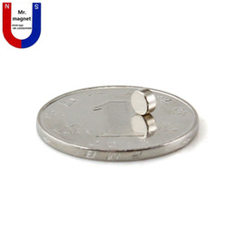 Wholesale Magnet 2mm - 300pcs Hot sale small disc 4x2 4*2mm permanent magnet D4x2mm rare earth magnet 4mmx2mm 4*2 neodymium magnet NdFeb 4x2mm free shipping