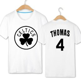 Wholesale Low Quality T Shirts - Isaiah Thomas t shirt Best low height player short sleeve gown Basketball sport tees Leisure unisex clothing Quality cotton Tshirt