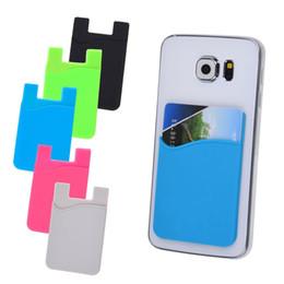 telemóvel doce Desconto 100pcs candy color silicone carteira de cartão de crédito cash stick adesivo titular case para celular