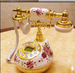 Téléphone européen antique en Ligne-Décoration arts artisanaux maison fixe céramique antique cadran antique / processus / modèle de téléphone maison européenne