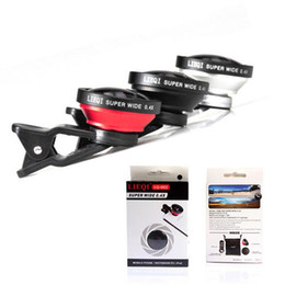 Wholesale Super Wide Lens Clip - LQ002 Super Wide Angle 0.4x Universal Clip Fisheye Lens Speciing Effects Mobile Phone Len For iPhone Samsung Huawei LG With Retail Package