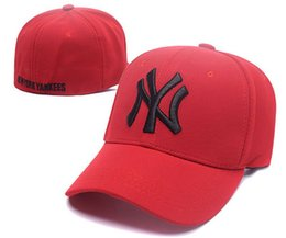 Wholesale Red Cap White Brim - 2017 Hot sale new brand ny Long brim Baseball cap LA dodge hat classic Sun hat spring and summer casual fashion outdoor sports baseball cap