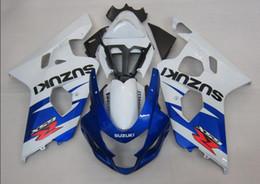 Wholesale Gsxr Motorcycle Fairing Kit - 3 gifts New ABS motorcycle parts Fairing Kit Fit For Suzuki GSXR600 GSXR750 2004 2005 600 750 04 05 K4 gsxr bodywork set best white vs blue