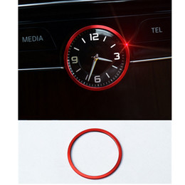 Wholesale Red Interior Trim - Red Car Middle Control Clock Watch Decorative Ring Interior Cover Trim For Mercedes Benz C class W205 2014-16 Car styling