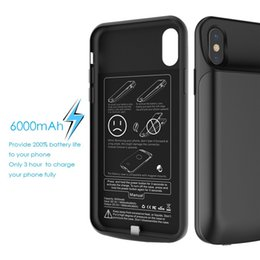 Wholesale Battery Charger Case Cover - Ultra Slim Battery Case Power Case For iphone X 3600Mah Extended charger Case full soft cover