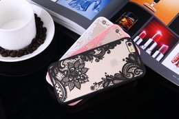 Wholesale Iphone Floral Cases - Luxury Lace Cartoon Flower Cover For iphone 7 Case For iphone7 6 6S PLus Case Sexy Paisley Mandala Henna Floral Cover Phone Cases