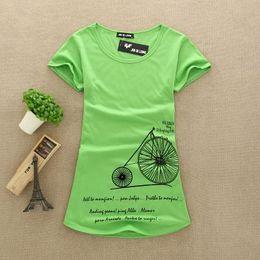 Wholesale T Shirts Lace Wholesale Printing - Wholesale- New Fashion Women Big Size T Shirts 100% Cotton Printed Lady printed T-Shirts Female Tops Tee