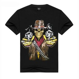 Wholesale Pirate Shirts Men - Summer Comics Pirate Skull 3d T Shirt O-Neck Cotton Printed T-shirts Men Street wear Hip-Hop T Shirt For Men Free Shipping