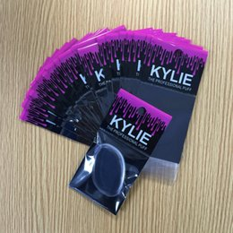 Wholesale Cotton Applicators - Hot Selling KYLIE Foundation Sponge Ellipse Silica gel Makeup Applicators & Cotton With separate packing