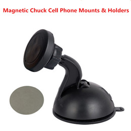 Wholesale Iphone Windscreen - 100% All New Creative Magnet Suction Car Phone Dash Mount For Windscreen IPhone Mount Dashboard Cell Phone Holder
