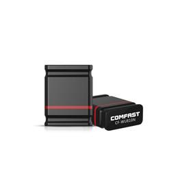 escritorio cf Rebajas Al por mayor- COMFAST CF-WU810N, Mini USB 150Mbps Wi-Fi Adaptador Wi Fi Antena USB 2.0 Adaptador USB WIFI para Escritorio WIFI Receptor Inalámbrico