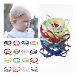Wholesale Hairband Nylon - 22 Colors Baby DIY Bow Nylon Headbands Childrens Hair Accessories Girls Handmade Bowknot Elastic Hairband Infant Toddler Headwear