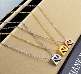 Wholesale Titanium Snake Pendant - Explosive wild fashion double round buckle steel gold necklace female trend tide female accessories rose gold jewelry