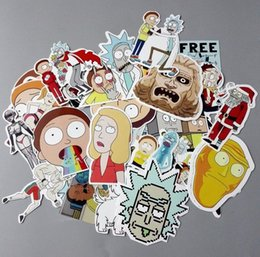 Wholesale Popular Bicycle - Hot Popular American Drama Rick and Morty Funny Sticker Decal For Car Laptop Bicycle Motorcycle Notebook Waterproof Stickers