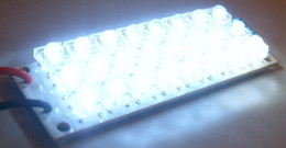 Wholesale Wholesale Night Light Board - Wholesale- DC 12V 24-LED Super Bright White Piranha LED board Night LED Lights Lamp