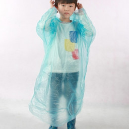 Wholesale Poncho Raincoat Bicycle - Kids Disposable Raincoat One Time Children PE Rainwear Coat Rain Wear Fishing Daily Student Bicycle Ride a Bike Poncho Household Tool