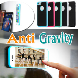 Wholesale Nano Green - Anti Gravity Selfie Magical Nano Sticky Anti-fall Adsorption Hybrid PC TPU Cover Case For iPhone 7 6 6S Plus Samsung S8 Plus S7 S6 Edge