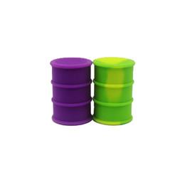 Wholesale Barrel Cover - Oil Drum Barrel Container Non-stick 26ml Silicone Dab Storage Container Jar Screw Top 20pcs lot Mixed Color