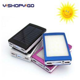 Wholesale Solar Power Backup Battery Charger - Customized logo Portable Solar Power Bank 10000MAH Dual USB LED External Mobile Phone Battery Charger Backup solar Powerbank